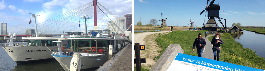 International guests and Unesco Kinderdijk Windmills